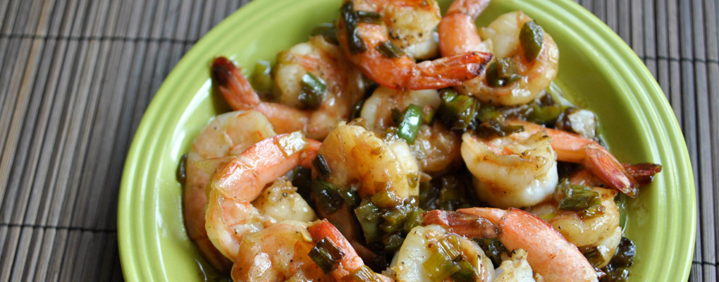 Shrimp in a Spicy Butter Sauce